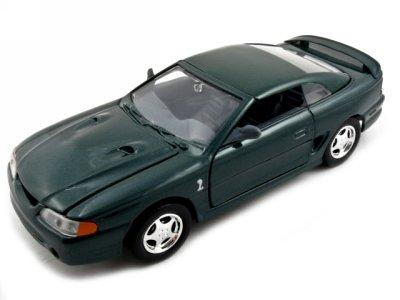 Motormax 73208grn 1998 Ford Mustang SVT Cobra Green 1-24 Diecast Car Model ()