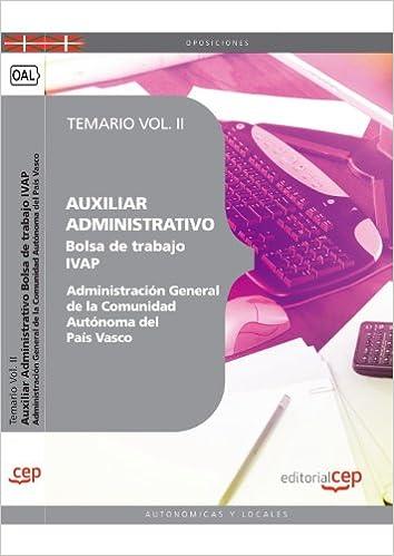 AUXILIAR ADMINISTRATIVO DE LA ADMINISTRACIÓN GENERAL DE LA ...