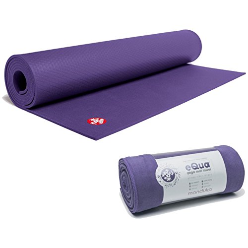 Manduka Mat PRO Black Magic 71 Inches With eQua Mat Towel - Magic
