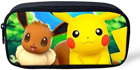 Pokemon Pikachu - Estuche para lápices de gran capacidad para la escuela, oficina, colegio, colegio, niña, tamaño grande, color Pikachu-3 22x11x4.5cm: Amazon.es: Oficina y papelería