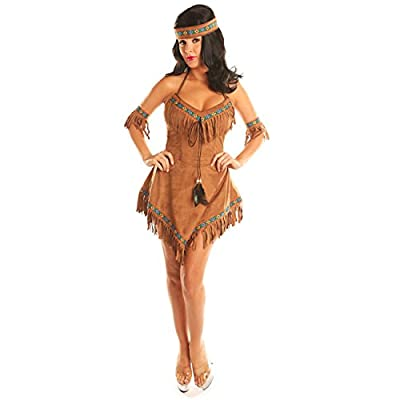 Disiao Women's Native American Indian Princess Costume Thankgiving Party Suits