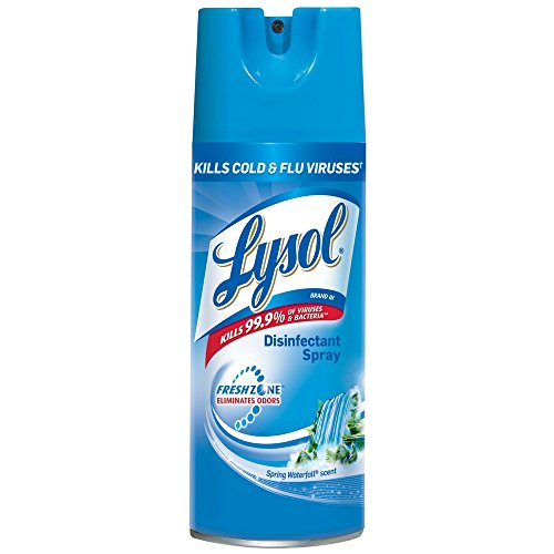 Lysol Disinfectant Spray, Spring Waterfall, 12.5 oz (Pack of 9)