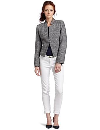 Calvin Klein Women's Petite Notch Collar Jacket, Eclipse Combo, 14P