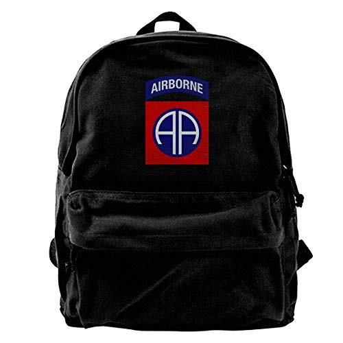Army 82nd Airborne Division Fashion Lightweight Canvas Shoulder Backpack For Women & Men