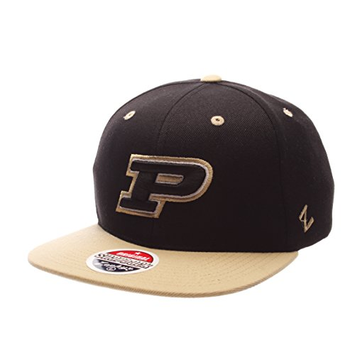 Zephyr NCAA Purdue Boilermakers Adult Men Z11 Snapback Hat, Adjustable, Team Color