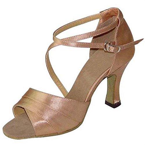 YFF Gift Women Dance Shoes Ballroom Latin Dance Tango Dancing Shoes 7.5CM,Pink,33