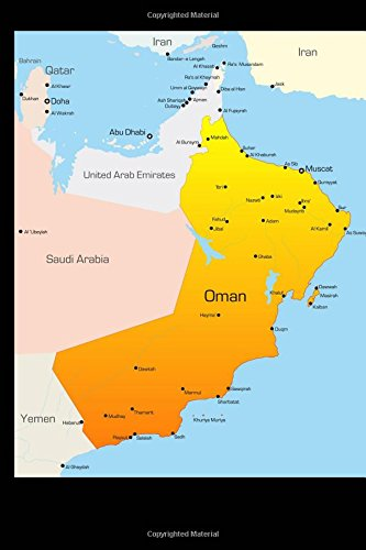 Download Map of Oman Journal: 150 page lined notebook/diary ebook