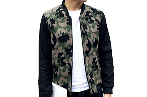 [Labaqiangj Men Camouflage Slim Jacket Zip Sportswear Coat Outerwear GreenUS Medium=China Large] (Morph Suite)