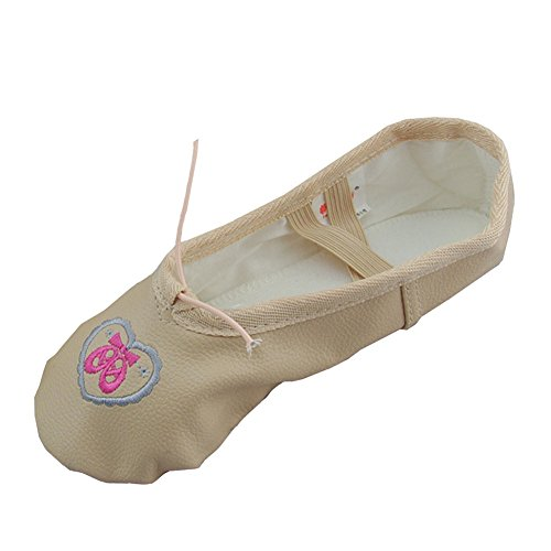 Lisianthus002 - Zapatillas de danza de poliuretano para niña Beige - beige