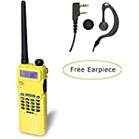 Baofeng UV-5R PLUS W/ Extended 3800mah Battery 5-Watt Two Way Radio (Yellow)