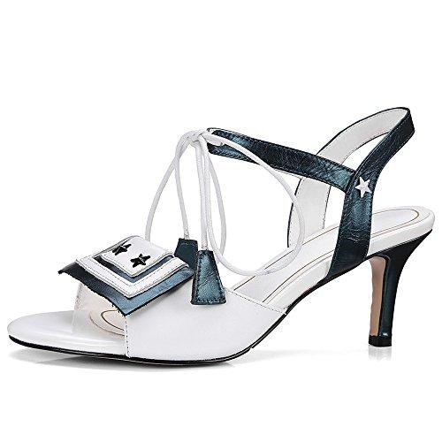 Nine SevenSandals - Zapatos de tacón mujer blanco