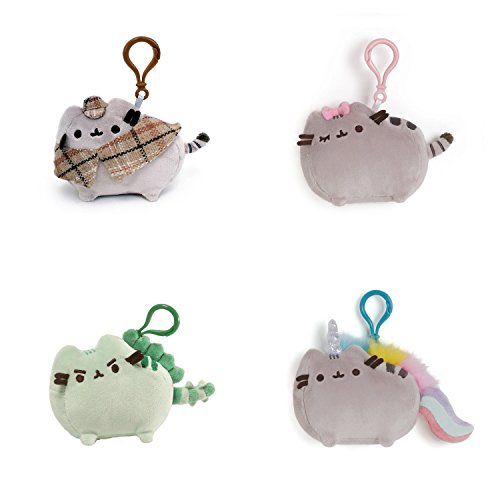 Ons Set (Gund Pusheen the Cat Plush Backpack Clip-Ons (Set of 4))