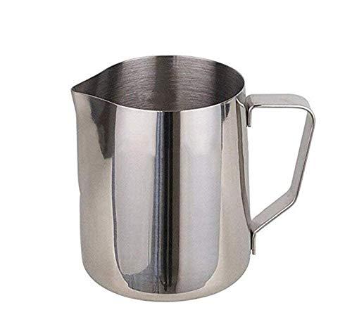 Oyfel 150ML Fancy Milk Stainless Steel Milk Jug Hot Milk Cup Suitable with Heat Proof Handle for Coffee Latte Frothing Milk