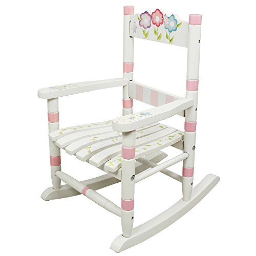 - Fantasy Fields Bouquet Thematic Child Wooden Small Rocking Chair | Imagination Inspiring Hand Crafted & Hand Painted Details Non-Toxic, Lead Free Water-based Paint