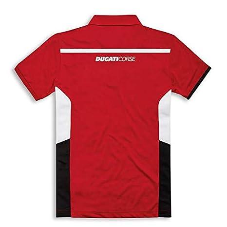 Ducati Corse Power - Polo de manga corta, color rojo: Amazon.es ...