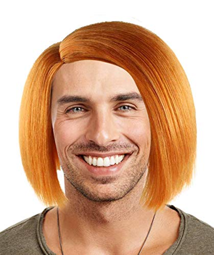 Chucky Curse of Evil Doll Wig, Orange Adult -