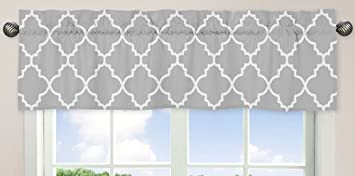 madison ac fretwork saratoga valance com park dp gray grey geometric w x amazon