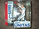 "** OPENER ** Damaged Outer Plastic Blister Package ** McFarlane: 6"" Johnny Unitas No Helmet Flat-top Crewcut Buzz Cut White Uniform Baltimore Colts Action Figure ** Opener"