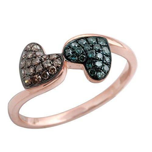 Prism Jewel 0.26Ct Brown & Blue Diamond
