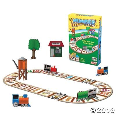 Fun Express Number Tracks Game - 22 Pieces - Educational and Learning Activities for Kids: Toys & Games