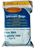 18 Riccar 8000 & Simplicity 7000 Type B Vaccum Bags, Upright, Commercial Vacuum Cleaners, 8000, 7000, 7200, 7250, 7300, 7350, 7700, 7750, 7900, 7950