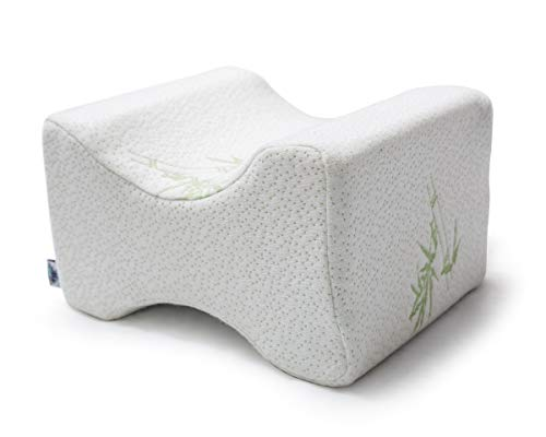 Luxury Bamboo Knee Pillow for Side Sleepers - Pregnancy, Hip, Back, Leg, and Sciatica Relief - Memory Foam Leg Pillow