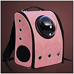 Pet Bag Cat Dog Carrier Spaceship Bag Capsule Backpack Box Pink