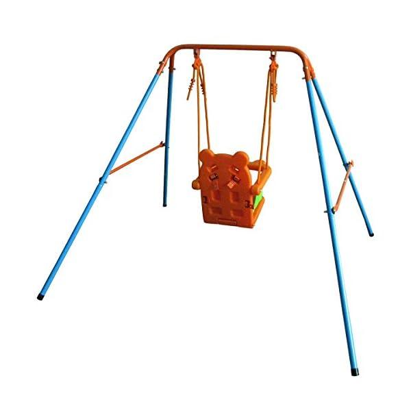 DREAMALL Toddler Baby Metal Swing Sets Chair Hammock Folding glider ...