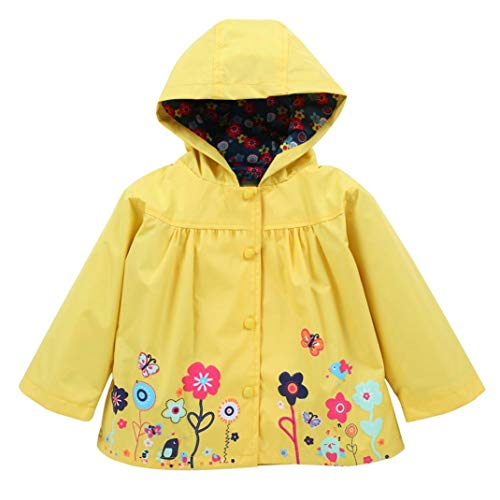 Little Girl Hooded Coat,Jchen(TM) Infant Toddler Baby Kid Girl Waterproof Hooded Coat Jacket Outwear Raincoat for 1-5 Y (Age: 12-18 Months, Yellow) by Jchen Baby Coat
