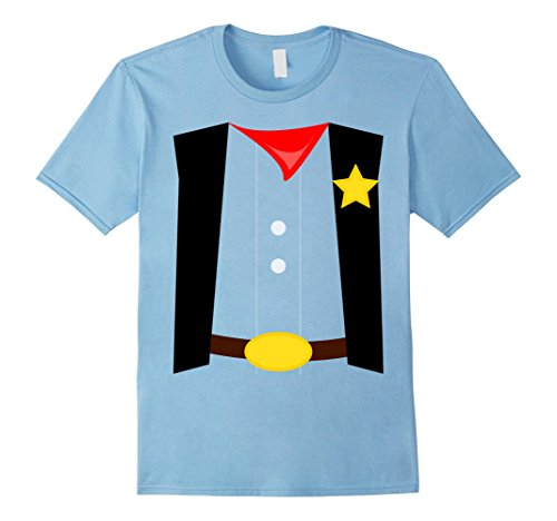 Mens Kids Costume Shirt Sheriff Halloween DIY costume shirts Medium Baby Blue