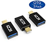 [3 Pack]ICZI Gold-plated USB C to USB 3.0 Adapter, Support OTG for Type-C Devices Including MacBook, ChromeBook Pixel, Nexus 5X/6P, Nokia N1 Tablet, Samsung Galaxy S8 Plus/Note 8, LG G6 and more