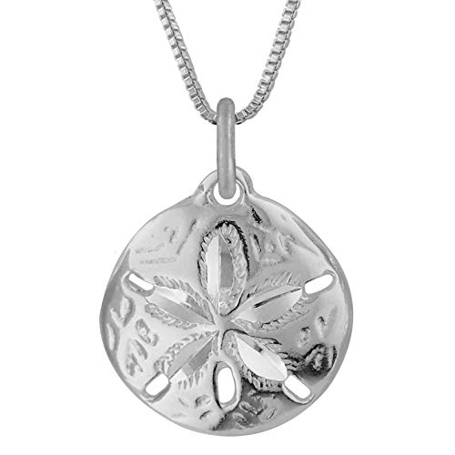 Sterling Silver Sand Dollar Charm Pendant Necklace, 18""