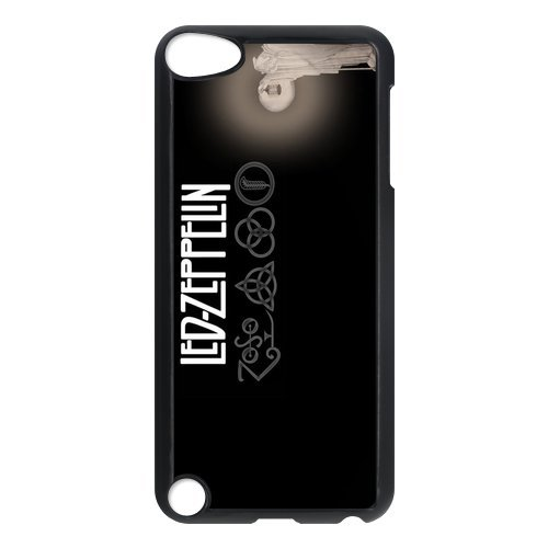 Black/White Sides Classic Style Custom Unique Led Zeppelin Design Skin Cover Case for iPod Touch 5th Durable Plastic iPod 5 Case