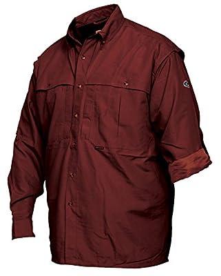Drake Wingshooter's Long Sleeve Shirt (Large, Maroon)