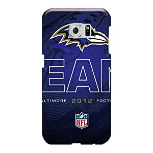 Great Hard Phone Cover For Sumsang Galaxy S6 Edge (Ooz68CLoQ) Custom Attractive Baltimore Ravens Image