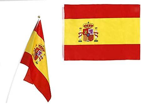 Atosa-22191 Atosa-22191-Banderin De España con Mastil Plastico ...