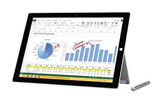Microsoft Surface Pro 3 512GB Silver - Tablet (Tableta de tamaño completo, Windows, Pizarra, Windows 8.1 Pro, Plata, 802.11a, 802.11ac, 802.11b, 802.11g, 802.11n)