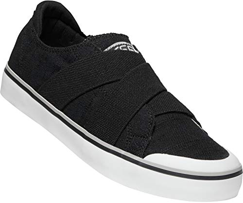 KEEN - Women's Elsa III Gore Slip-On Canvas Sneaker for Casual Everyday Use, Black, 7 M US