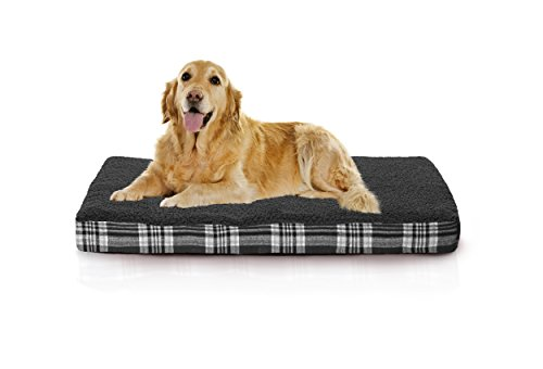 Furhaven Orthopedic Mattress Pet Bed, Large, Smoke Gray, for Dogs and Cats