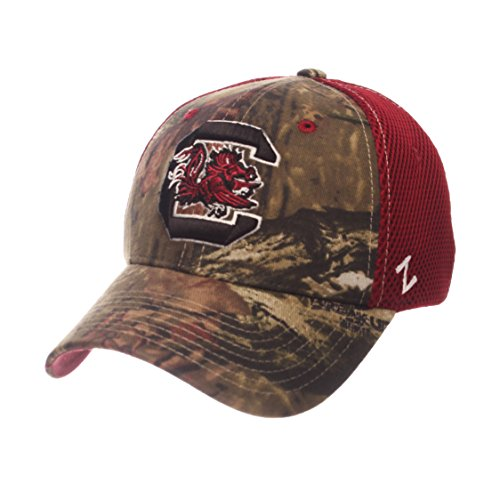 Zephyr NCAA South Carolina Fighting Gamecocks Men's Terrain Cap, X-Large, Mossy Oak Camo