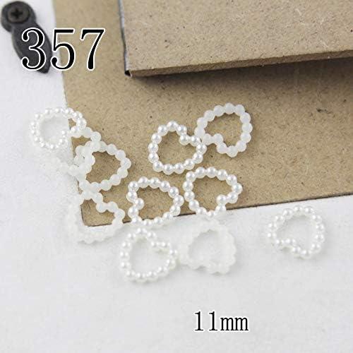 100 pezzi perle finte in 10 dimensioni con fiori // cuori // stelle per decorare centrotavola in occasione di matrimoni e per lavori di fai-da-te Set con perline miste