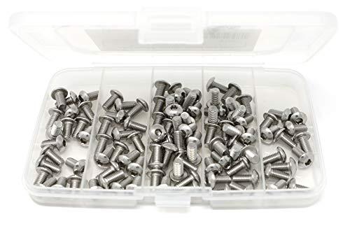 iExcell 100 Pcs M5 x 10 mm Stainless Steel 304 Hex Socket Button Head Cap Screws