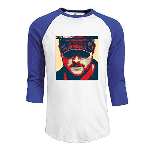 Duola Men's 3/4 Sleeve Raglan T-shirt Chief Album Cover Size XL RoyalBlue