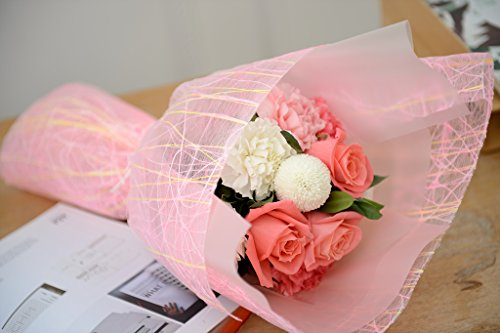 Premium Florist & Craft Deco Mesh Roll Rose Linen Paper Cotton Ribbon Wrapping by BOZA (Image #3)