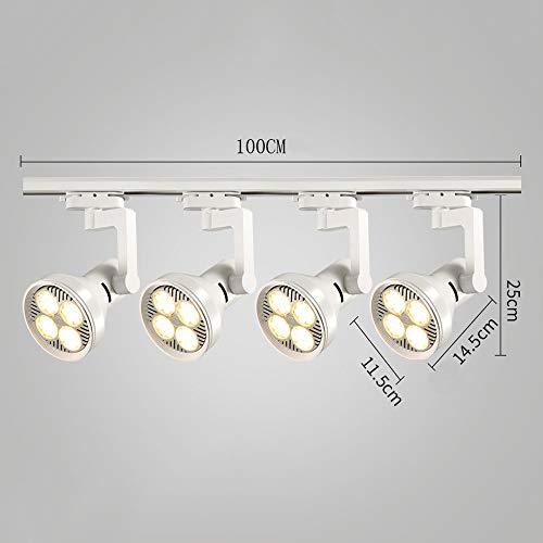 ZJⓇ Spotlight Track Light - Living Room Wall Track Lights Decorative Spotlights - Black/White - 20W/30W/40W - 4 Heads && (Color : White, Size : 20W) by ZJⓇ Spotlight (Image #5)