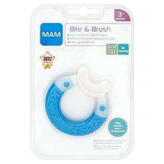 MAM Bite & Brush Teether 3+ Month- BLUE [Accessory]
