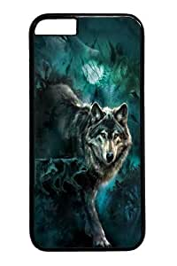 iPhone 6 Case, iPhone 6 Cases -Night Wolves Collage PC case Cover for iPhone 6 and iPhone 6 Black