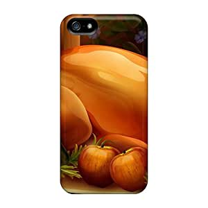 Fashion Tpu Cases For Iphone 5/5s- 3d Thanksgiving Foods Defender Cases Covers Black Friday