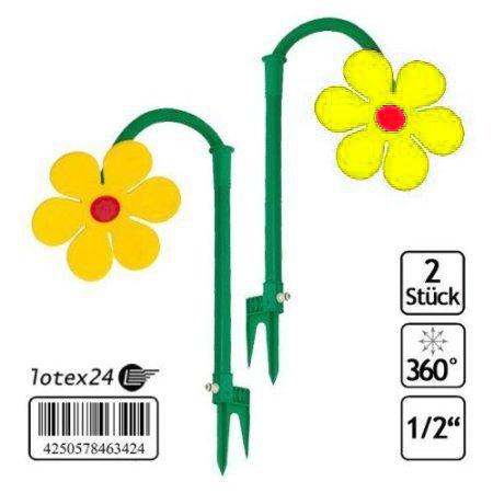 2-Stck-Tanzende-Blume-Rasensprinkler-Bewsserung-Sprenger-beweglich