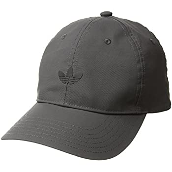 adidas Mens Originals Modern Relaxed Adjustable Strapback Cap, Dark Grey/Black, One Size